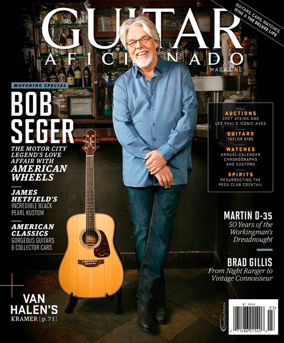 Bob Segar for the cover of Guitar Aficianado Magazine