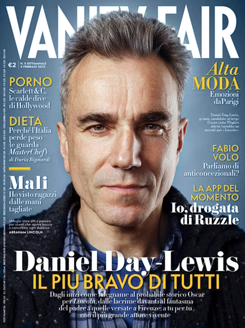 Daniel Day-Lewis on the cover of Vanity Fair Italia