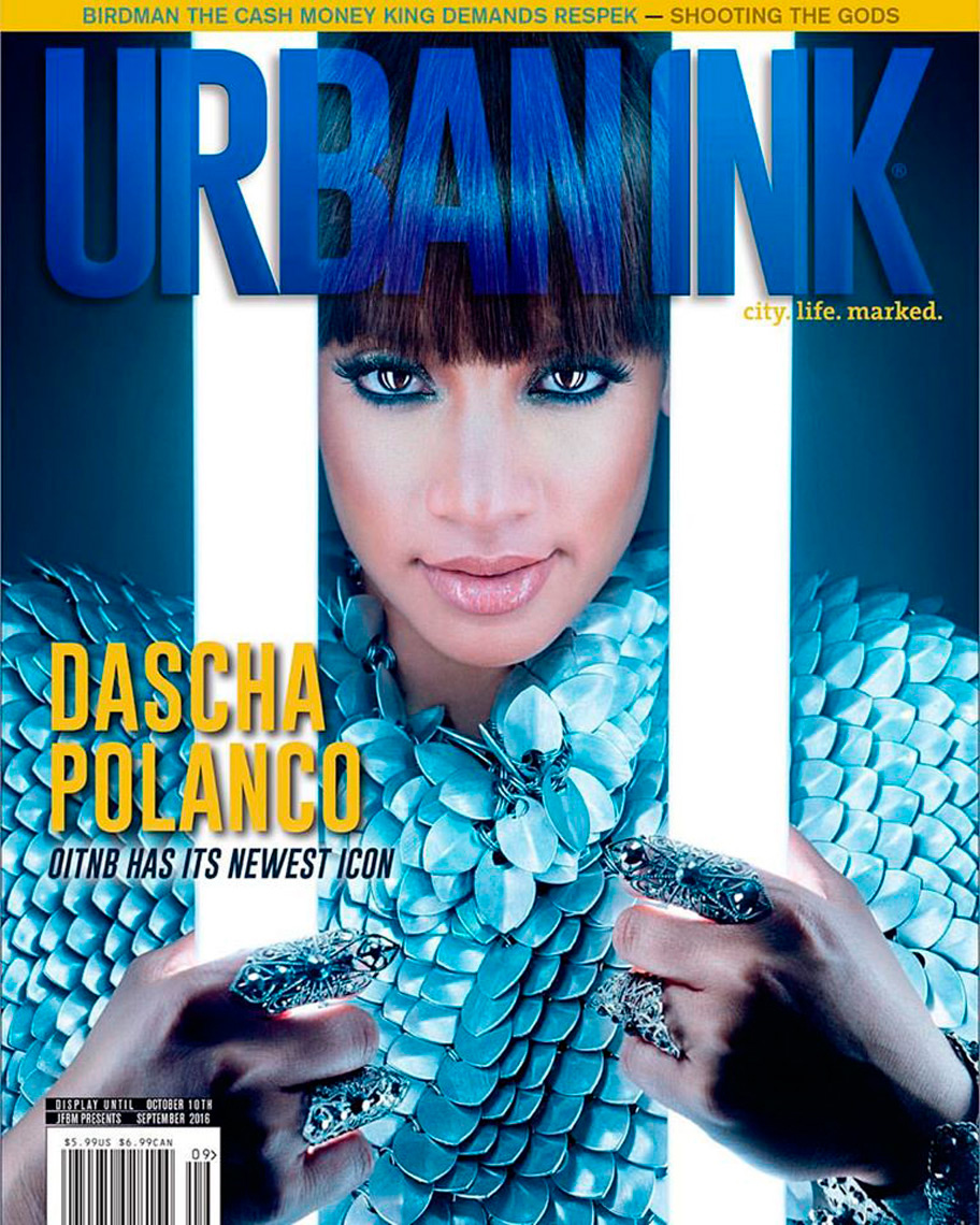 Dascha Polanco for the ccover of Urban Ink