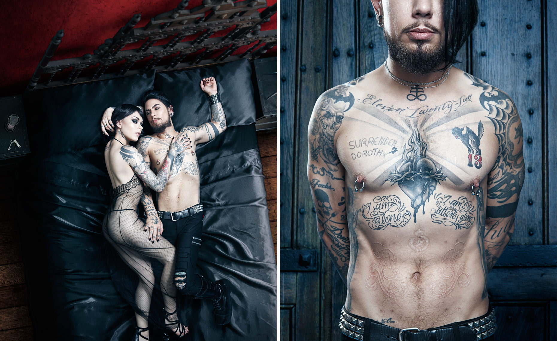 Dave Navarro (Inkmaster & Janes Addiction) with model Lexus Amanda © Dale May