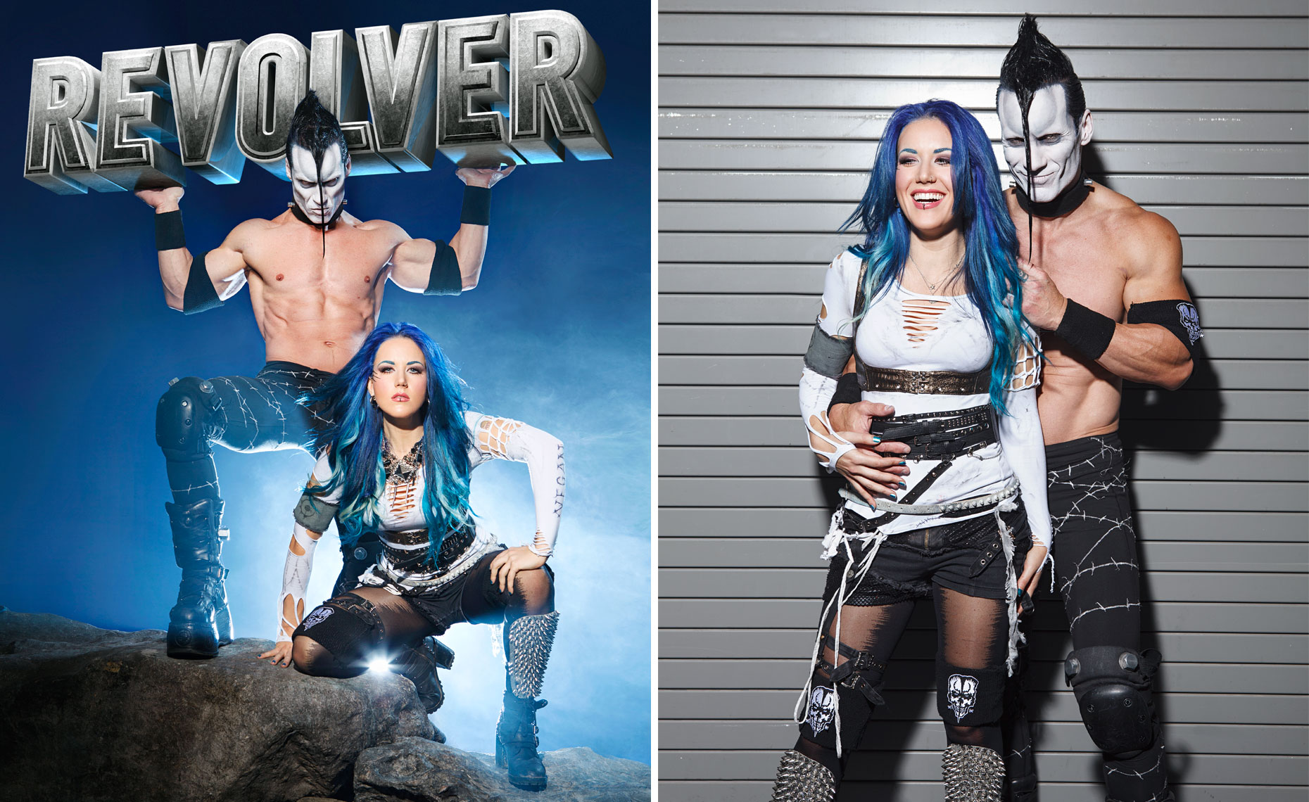 Doyle of the Misfits and Alissa White-Gluz of Arch Enemy © Dale May