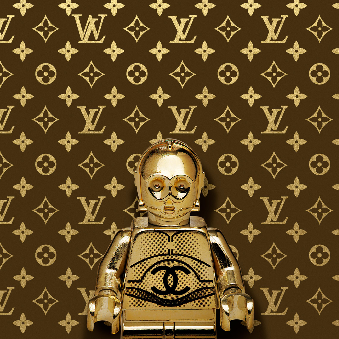 "Lego Wars ""V3PO Louis Vuitton"""