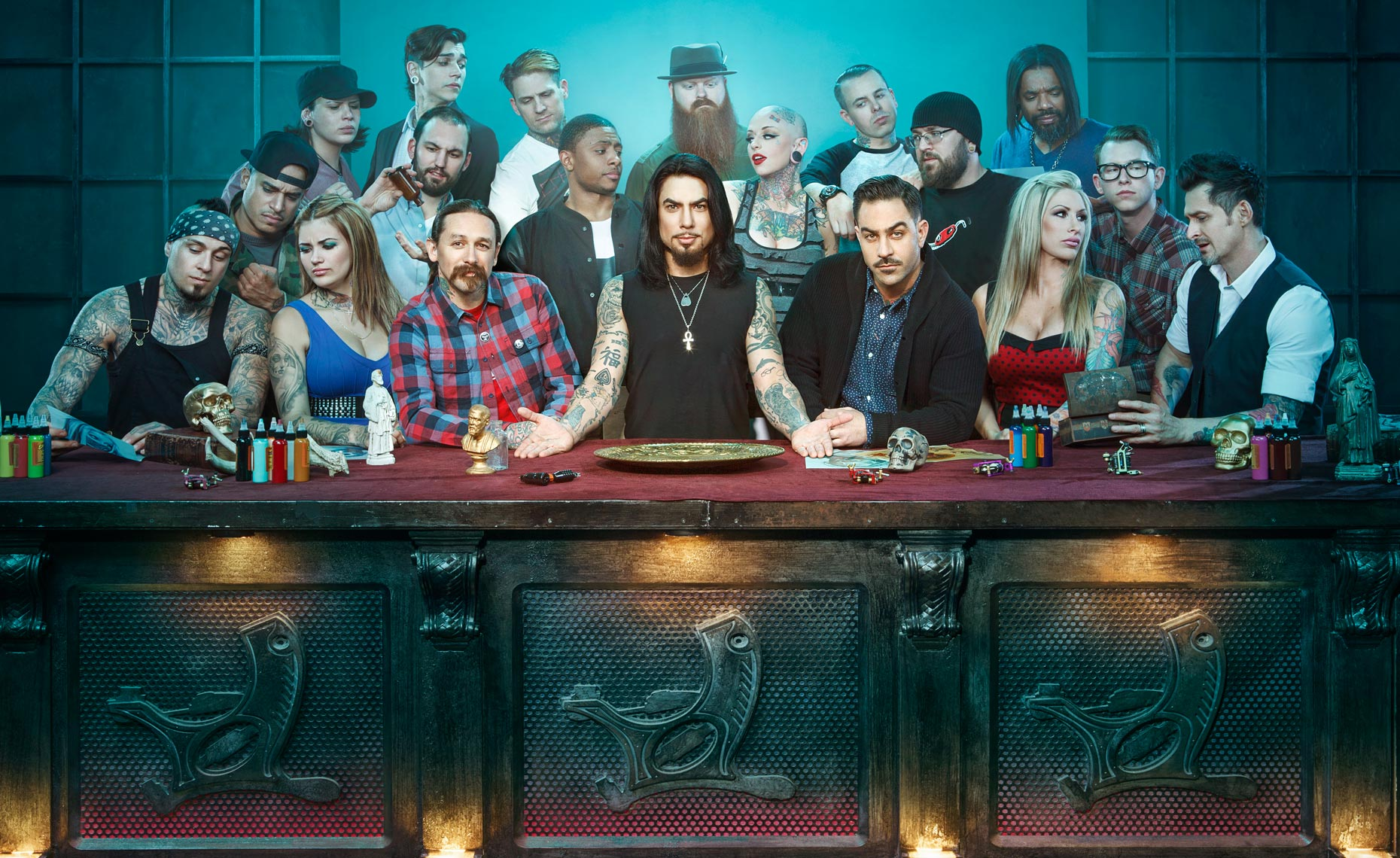 Ink Master, Season 3 for Spike TV with Host Dave Nevarro © Dale May