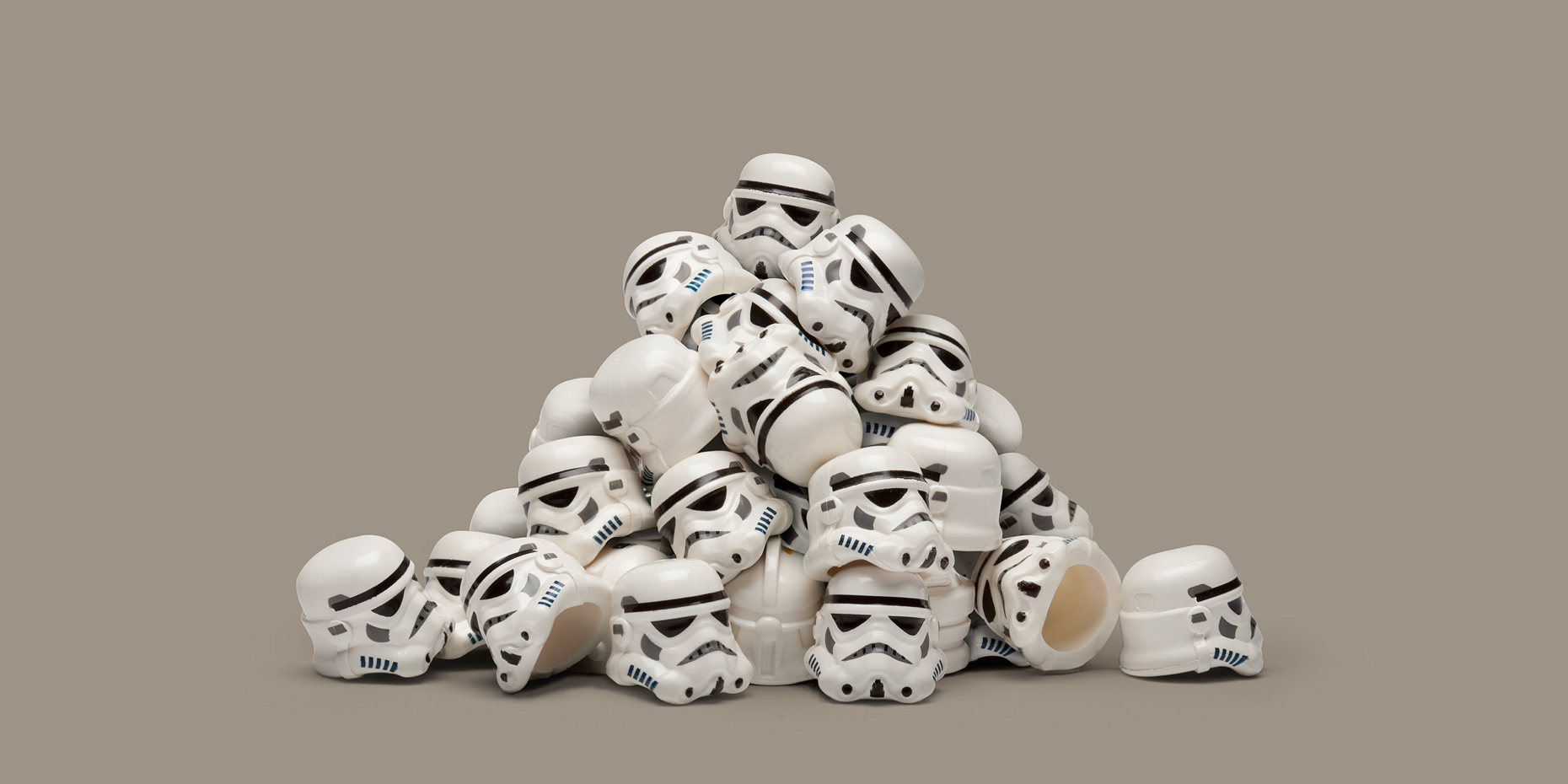 "Lego Wars - ""Helmet Pile"" © Dale May"