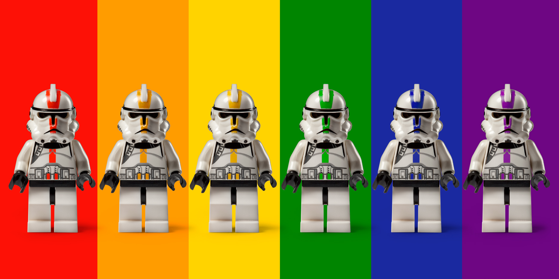 "Lego Wars - ""Rainbow Coalition"" © Dale May"