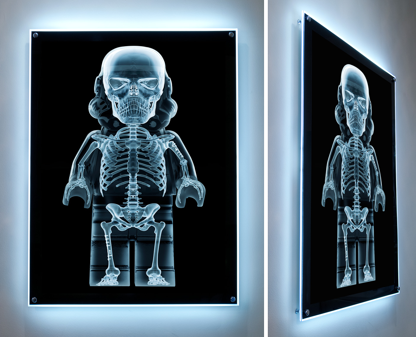 "Lego Wars - ""Xray Trooper LED Lightbox"" © Dale May"