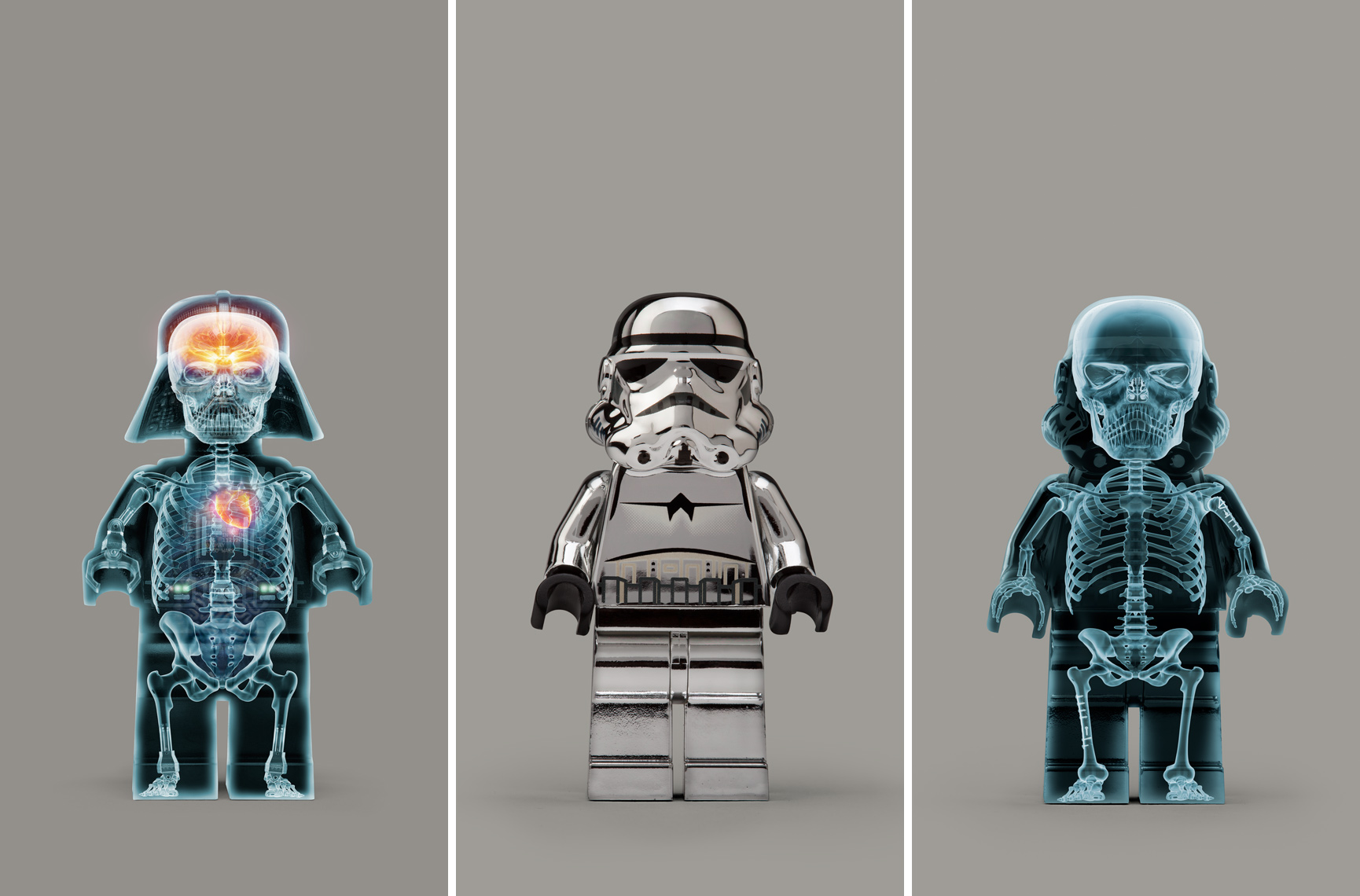 "Lego Wars - ""Xray Vader / Chrome Trooper / Xray Trooper"" © Dale May"