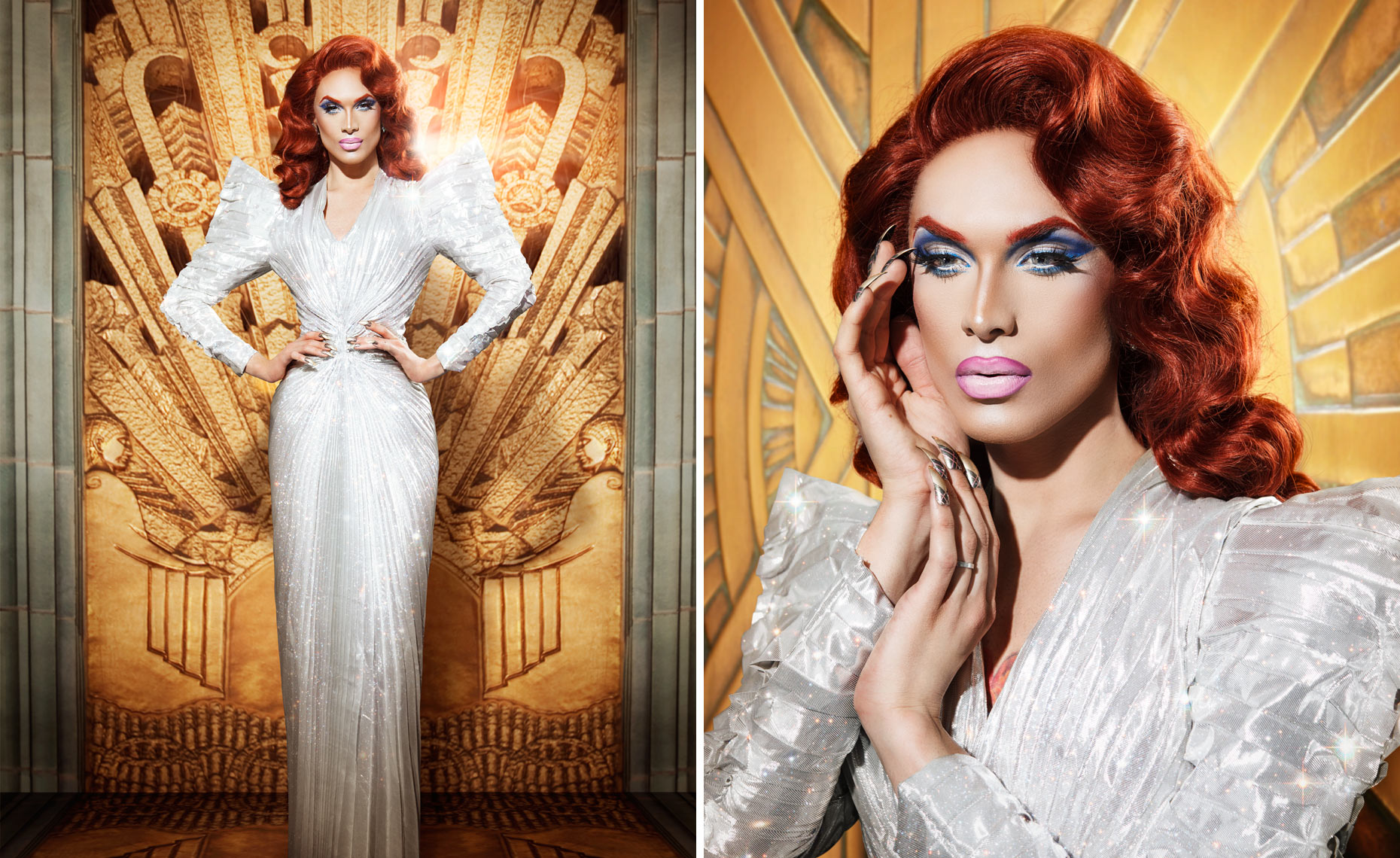 Miss Fame in a vintage Tierry Mugler Gown © Dale May