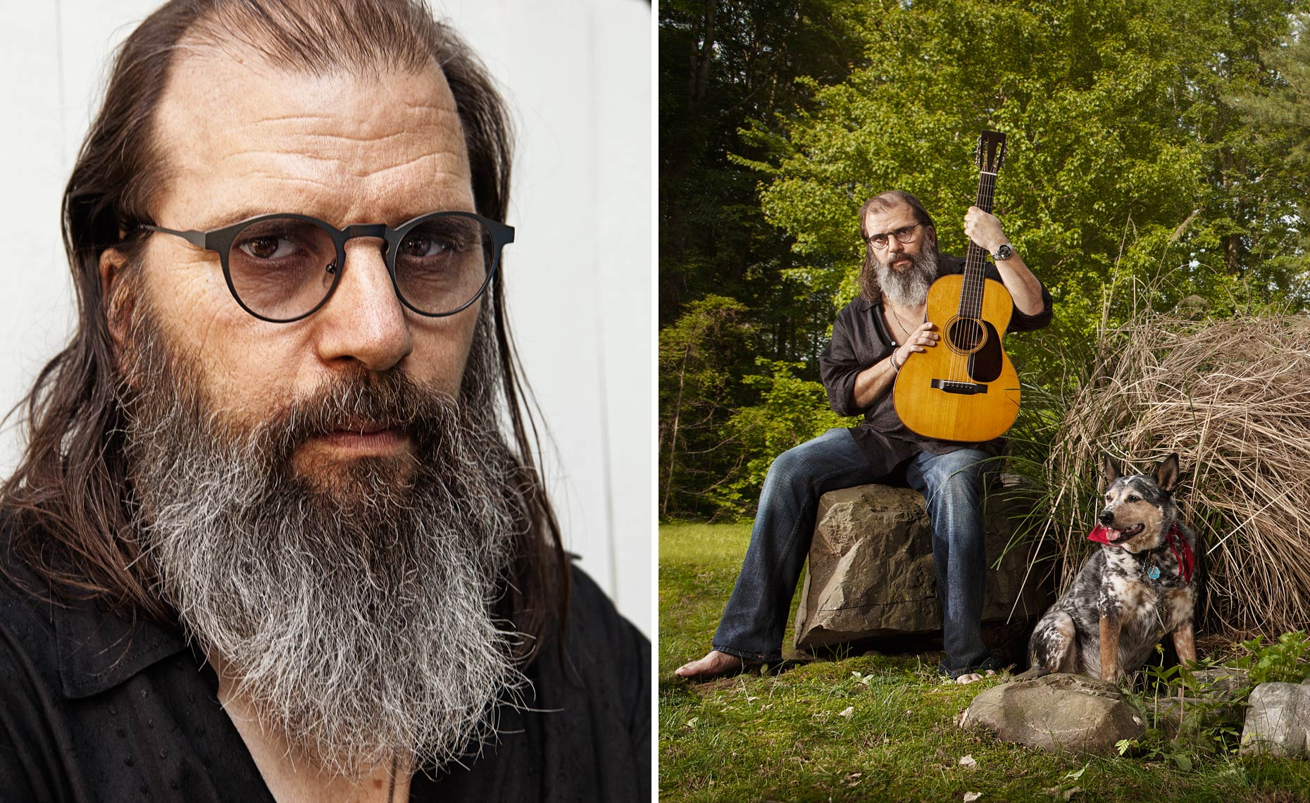 Steve Earle and his dog © Dale May