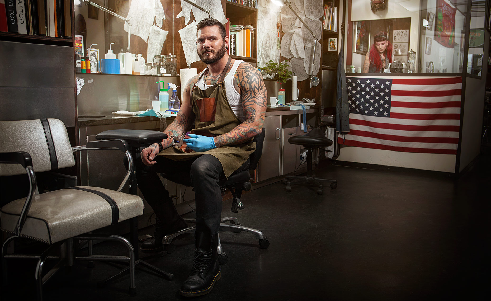 Tattoo Artist and Small Business Owner, Travis Cadeau © Dale May