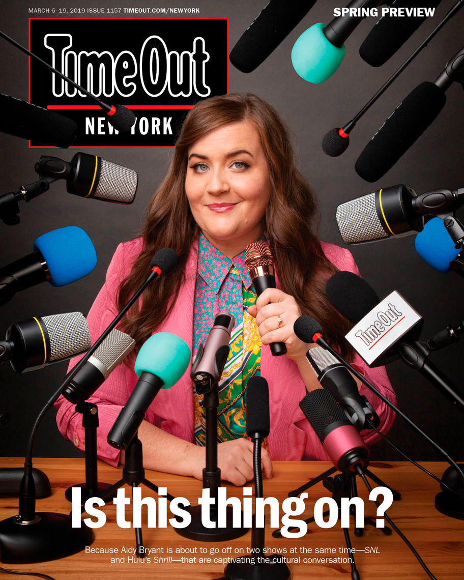 Aidy Bryant on the cover of Time Out NY